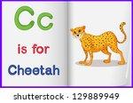 alphabet worksheet for the... | Shutterstock . vector #129889949