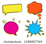 set of empty retro colorful... | Shutterstock . vector #1298907769