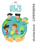save the earth  save the world  ... | Shutterstock .eps vector #1298908096