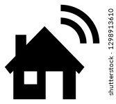 smart home vector icon | Shutterstock .eps vector #1298913610
