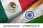 mexico and india two flags... | Shutterstock . vector #1298932279