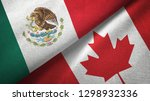 mexico and canada two flags... | Shutterstock . vector #1298932336