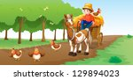 illustration of a farmer with... | Shutterstock . vector #129894023