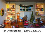 this is a tiny christmas scene. ... | Shutterstock . vector #1298952109