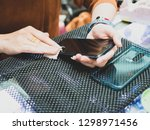 women cleaning phone female... | Shutterstock . vector #1298971456