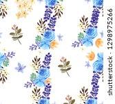 pattern seamless  floral lush... | Shutterstock . vector #1298975266