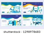 illustration of data analysis ... | Shutterstock .eps vector #1298978683