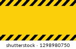 black and yellow line striped.... | Shutterstock .eps vector #1298980750
