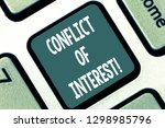 writing note showing conflict... | Shutterstock . vector #1298985796