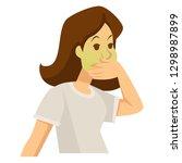 food poisoning or pregnancy... | Shutterstock .eps vector #1298987899