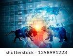stock market background concept ... | Shutterstock . vector #1298991223