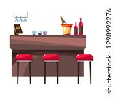 bar with stools hotel... | Shutterstock .eps vector #1298992276