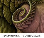3d Illustration   Spiral Shape...