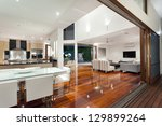 luxurious home interior with... | Shutterstock . vector #129899264