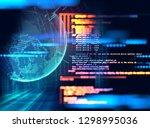 programming code abstract... | Shutterstock . vector #1298995036
