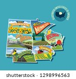 illustrated pictorial map of... | Shutterstock .eps vector #1298996563