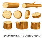forest stump and log wood and... | Shutterstock .eps vector #1298997040