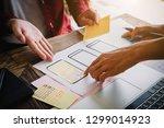 web designer meeting  planning... | Shutterstock . vector #1299014923