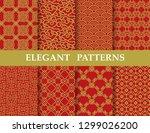 8 different elegant classic... | Shutterstock .eps vector #1299026200