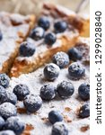 homemade blueberry pie | Shutterstock . vector #1299028840