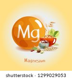 magnesium in food. natural... | Shutterstock .eps vector #1299029053