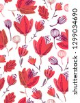 seamless pattern design with... | Shutterstock .eps vector #1299034690
