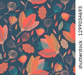 seamless pattern design with... | Shutterstock .eps vector #1299034693