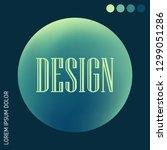 vibrant abstract gradient set.  ... | Shutterstock .eps vector #1299051286