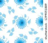 pattern of blue flowers on a...   Shutterstock .eps vector #1299051889