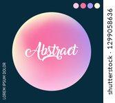 vibrant abstract gradient set.  ... | Shutterstock .eps vector #1299058636