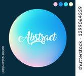 vibrant abstract gradient set.  ... | Shutterstock .eps vector #1299064339