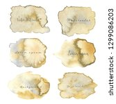 abstract watercolor background. ... | Shutterstock .eps vector #1299086203