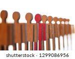 male red plastic toy... | Shutterstock . vector #1299086956