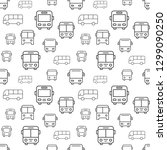 bus seamless pattern with icons.... | Shutterstock .eps vector #1299090250