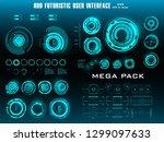 hud futuristic blue user...   Shutterstock .eps vector #1299097633