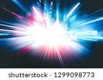 abstract motion blur in city in ... | Shutterstock . vector #1299098773
