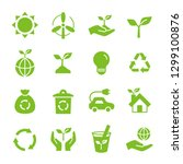 ecology eco icon set | Shutterstock .eps vector #1299100876
