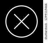 vector cancel icon    Shutterstock .eps vector #1299115666