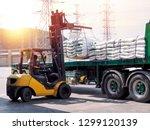 Forklift Handling White Sugar...