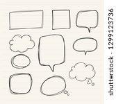 hand drawn doodle speech... | Shutterstock .eps vector #1299123736