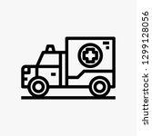 ambulance car concept line icon....