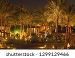 scenic night view of hotel area ... | Shutterstock . vector #1299129466