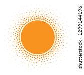 sun icon. halftone orange... | Shutterstock .eps vector #1299144196