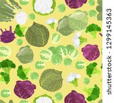 cabbage beneficial features... | Shutterstock .eps vector #1299145363