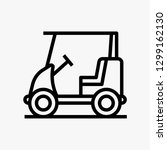 golf cart car concept line icon....