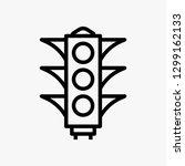 traffic light concept line icon....
