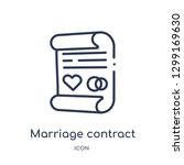 linear marriage contract icon... | Shutterstock .eps vector #1299169630