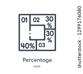 linear percentage icon from... | Shutterstock .eps vector #1299176080