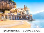 morning view of amalfi... | Shutterstock . vector #1299184723