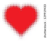 red heart halftone logo  vector ...   Shutterstock .eps vector #129919433